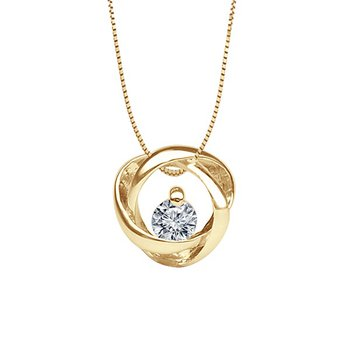 1/4ct tw Diamond Time & Eternity Necklace in 14K Yellow Gold