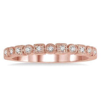 1/10ct tw Diamond Stackable Ring in 14K Rose Gold