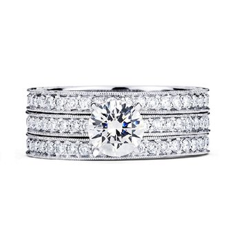 3/8ct tw Diamond Engagement Ring Setting in 14K White Gold