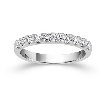 1ct tw Diamond Anniversary Ring in 14K White Gold