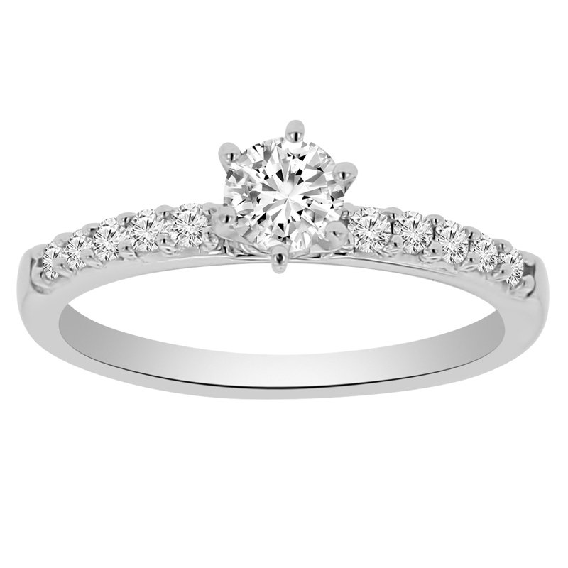 1/2ct tw Diamond Engagement Ring in 14K White Gold