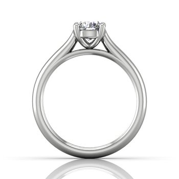 3/4ct tw Diamond Solitaire Engagement Ring in 14K White Gold