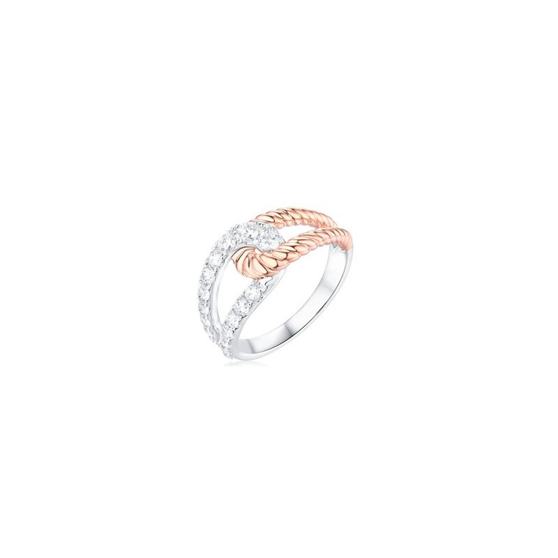 5/8ct tw Diamond Fashion Ring in 14K White and Yellow Gold