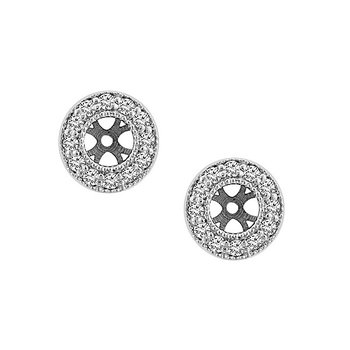 1/4ct tw Diamond Earring Jackets in 14K White Gold