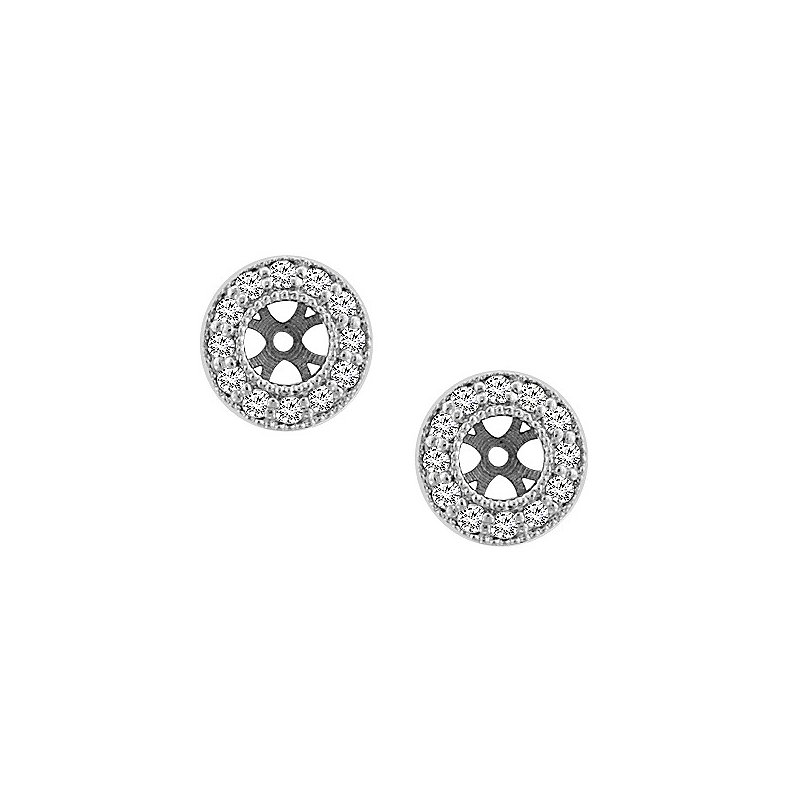 1/4ct tw Diamond Earring Jackets in 14K White Gold