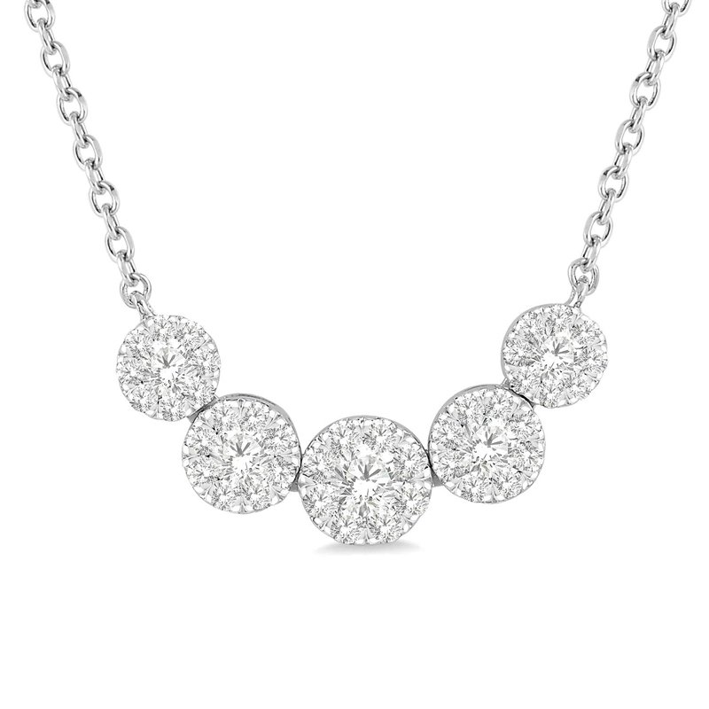 1/2ct tw Diamond Thoudsand Points of Light Necklace in 14K White Gold