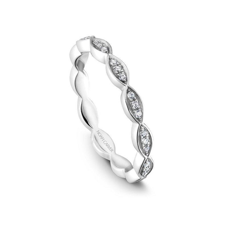 1/10ct tw Diamond Wedding Ring in 14K White Gold