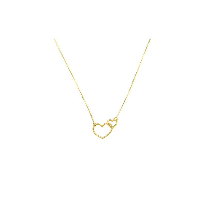 Interwoven Heart Necklace in 14K Yellow Gold