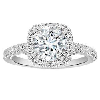 2ct tw NewBorn Lab Created Diamond Engagement Ring in 18K White Gold