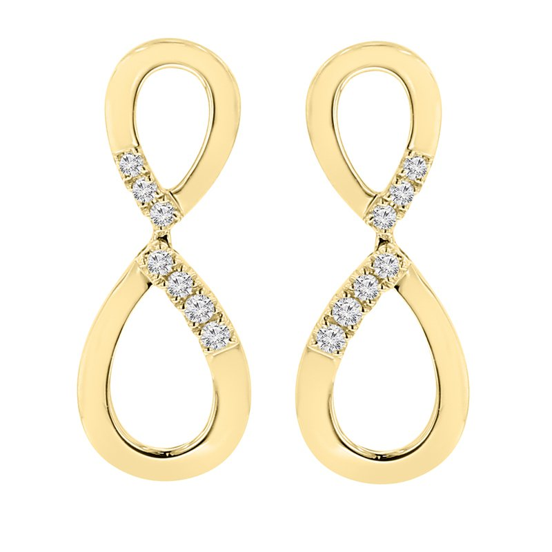 1/10ct tw Diamond Earrings in 14K Yellow Gold