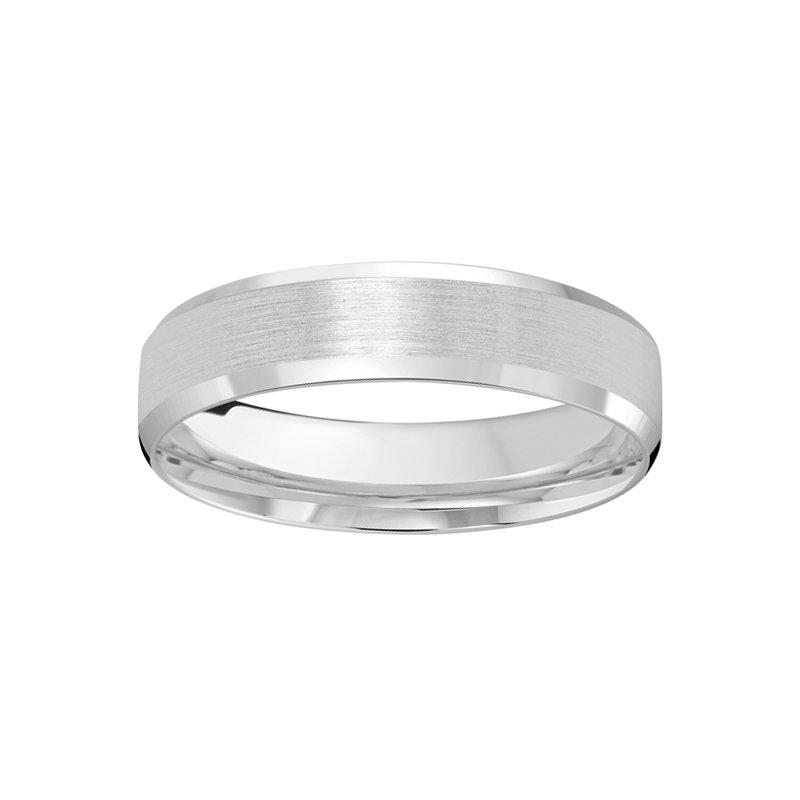 5mm Wedding ring in 14K White Gold