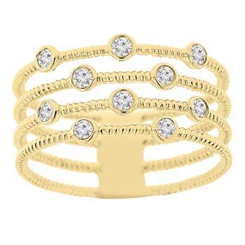 1/4ct tw Diamond Fashion Ring in 14K Yellow Gold