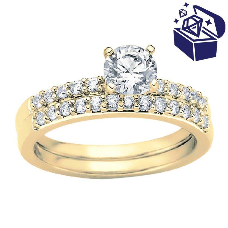 Treasure Hunt Value 1/5ct tw Diamond Engagement Ring Setting in 14K Yellow Gold