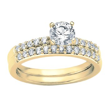 1/5ct tw Diamond Engagement Ring Setting in 14K Yellow Gold