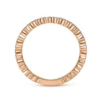 1/8ct tw Diamond Stackable Ring in 14K Rose Gold