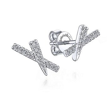 1/8ct tw Diamond Fashion Earrings in 14K White Gold