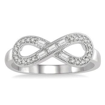 1/5ct tw Diamond Infinity Ring in 10K White Gold
