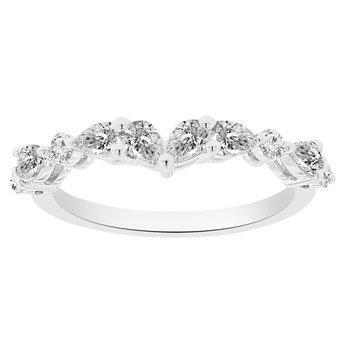 5/8ct tw NewBorn Lab Created Diamond Wedding Ring in 14K White Gold