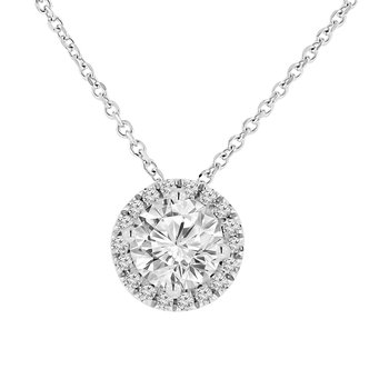 1ct tw Diamond Simply Love Collection Necklace in 14K White Gold
