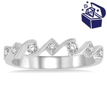 Treasure Hunt Value 1/5ct tw Diamond Stackable Ring in 14K White Gold
