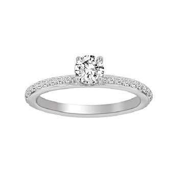 5/8ct tw Diamond Fairy Tale Collection Engagement Ring in 19K White Gold