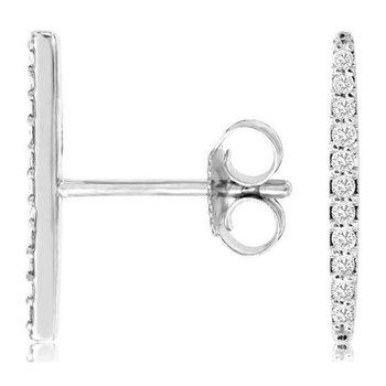 1/10ct tw Diamond Earrings in White Gold