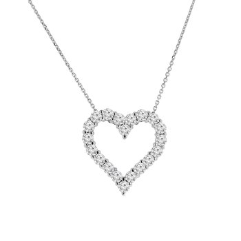 1 7/8ct tw NewBorn Lab Created Diamond Heart Necklace in 14K White Gold