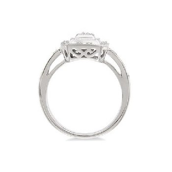 .05ct tw Diamond Halo Fashion Ring in Sterling Silver