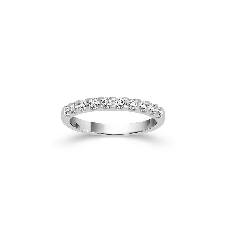 1/5ct tw Diamond Anniversary Ring in 14K White Gold