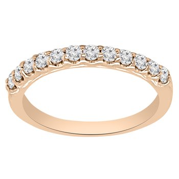 1/3ct tw NewBorn Lab Created Diamond Wedding Ring in 14K Rose Gold