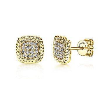 1/5ct tw Diamond Fashion Earrings in 14K Yellow Gold