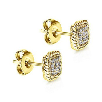 1/5ct tw Diamond Fashion Earrings in 14K Yellow Gold