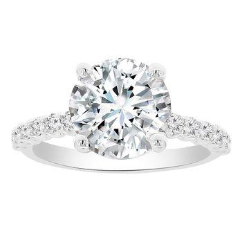3 1/2ct tw NewBorn Lab Created Diamond Engagement Ring in 14K White Gold