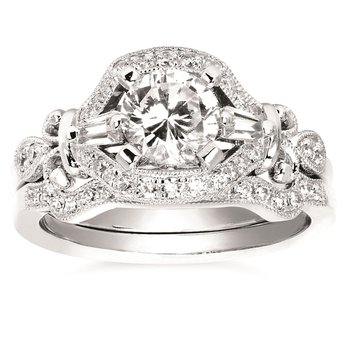1/10ct tw Diamond Wedding Ring in 14K White Gold