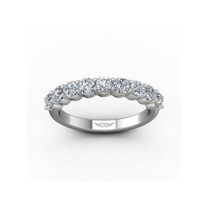 1 1/8ct tw Diamond Anniversary Ring in 14K White Gold