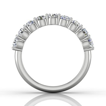 1 1/8ct tw Diamond Anniversary Ring in 14K White Gold