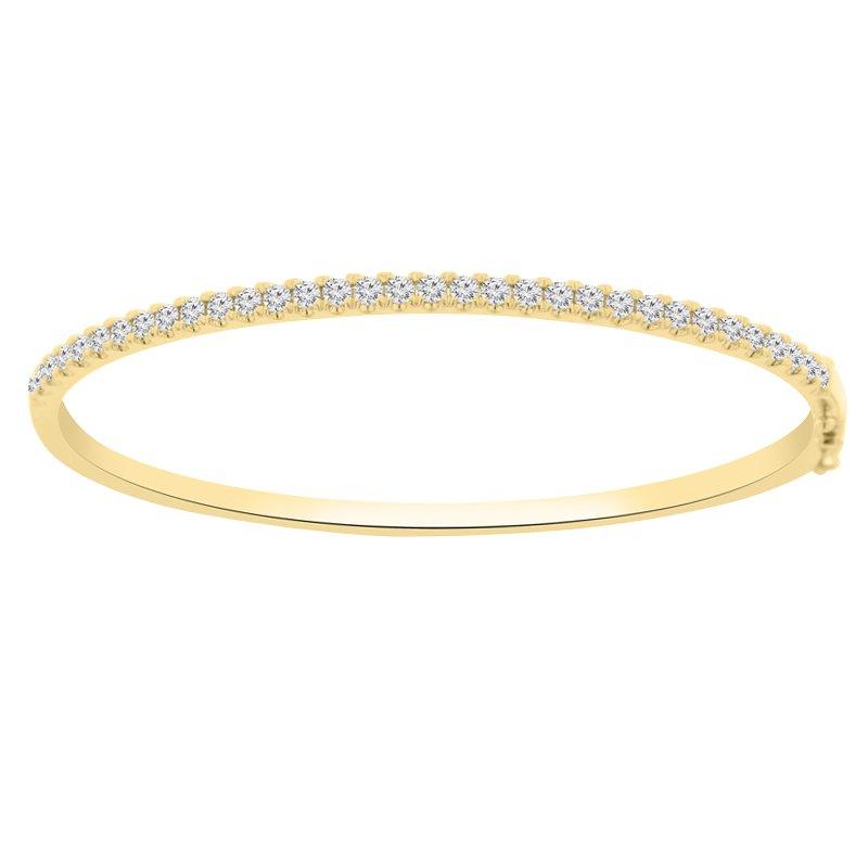 1 1/4ct tw Diamond Bangle Bracelet in 14K Yellow Gold