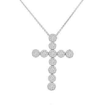 1ct tw Diamond Thousand Points of Light Pendant in 14K White Gold