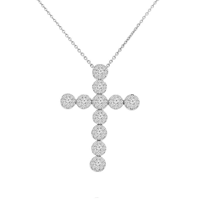 1ct tw Diamond Thousand Points of Light Pendant in 14K White Gold