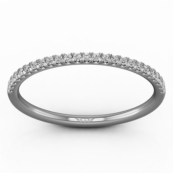 1/8ct tw Diamond Anniversary Ring in 14K White Gold