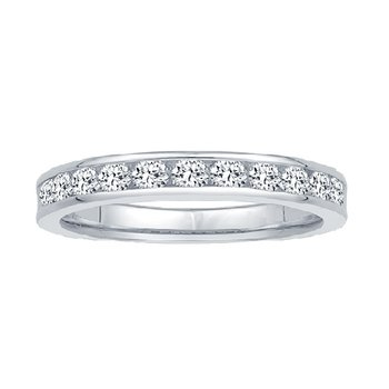 1/10ct tw Ramsey's 81 Diamond Anniversary Ring in 14K White Gold