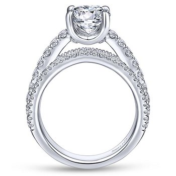 2 1/3ct tw Diamond Engagement Ring in 18K White Gold