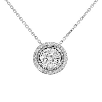 1/3ct tw Diamond Simply Love Collection Necklace in 10K White Gold