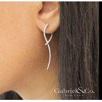1/2ct tw Diamond Sculptural Drop Earrings in 14K White Gold