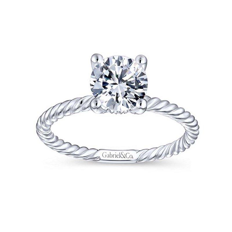 1 1/8ct tw NewBorn Lab Created Diamond Engagement Ring in 14K White Gold