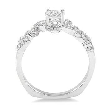 3/8ct tw Diamond Thousand Points of Light Engagement Ring in 14K White Gold