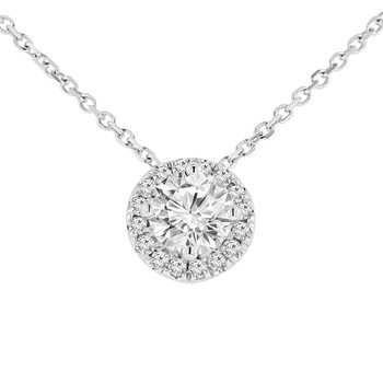 3/4ct tw Diamond Simply Love Collection Necklace in 14K White Gold