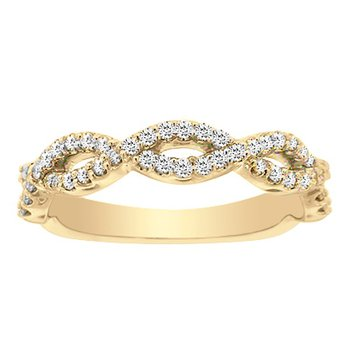 1/4ct tw Diamond Stackable Ring in 14K Yellow Gold