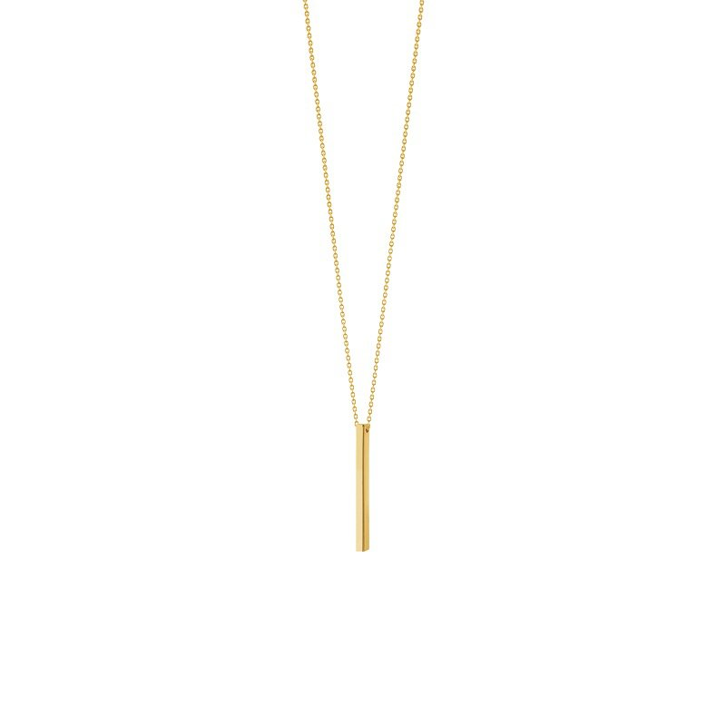Vertical Bar Necklace in 14K Yellow Gold
