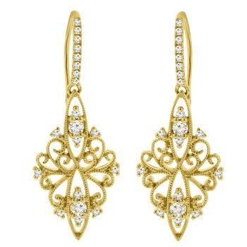 1/3ct tw Diamond Fashion Earrings in 18K Yellow Gold